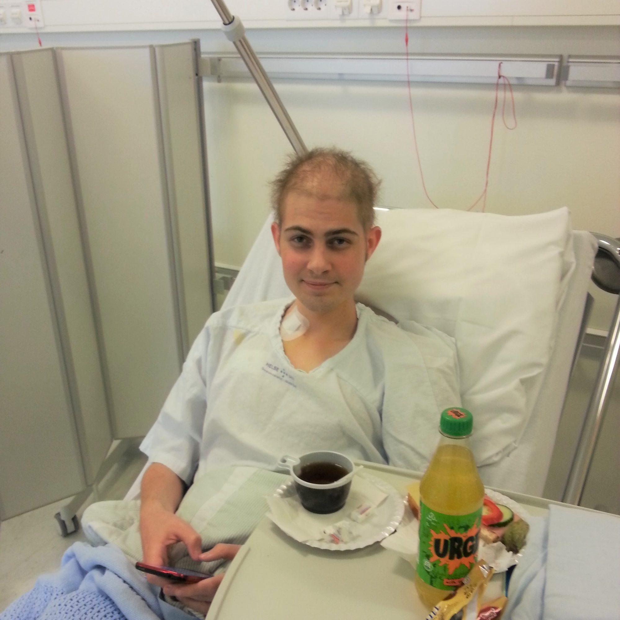 Glenn på sykehuset